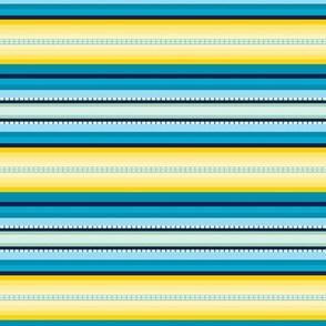 Peru Skinny Stripe Aqua Yellow