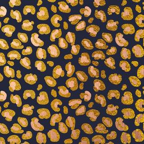 Leopard Rose Gold Spots on Navy