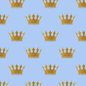 Louis Blue Crown Prince Gold Crowns on Blue