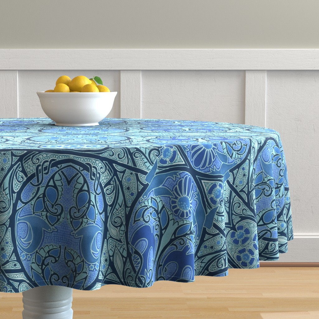 Malay Round Tablecloth featuring Soaring Free by edsel2084