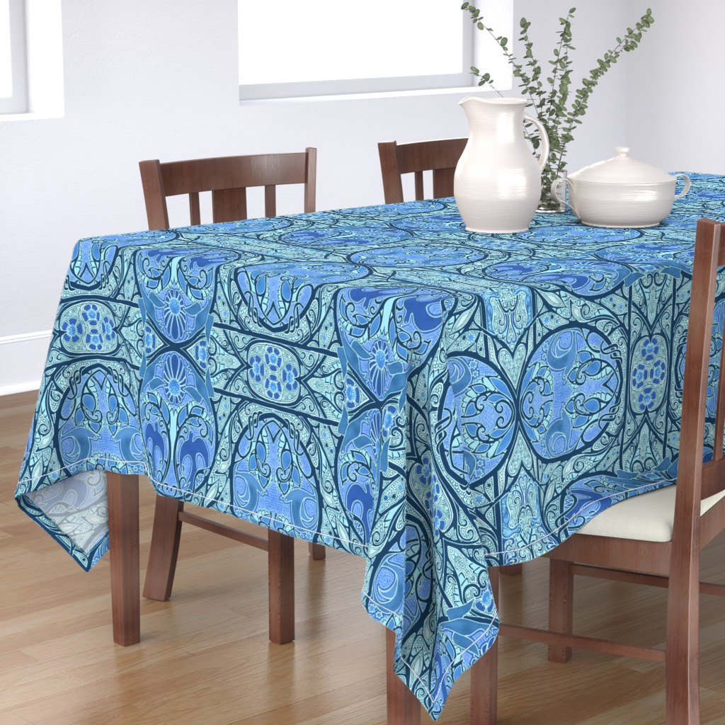 Bantam Rectangular Tablecloth featuring Soaring Free by edsel2084