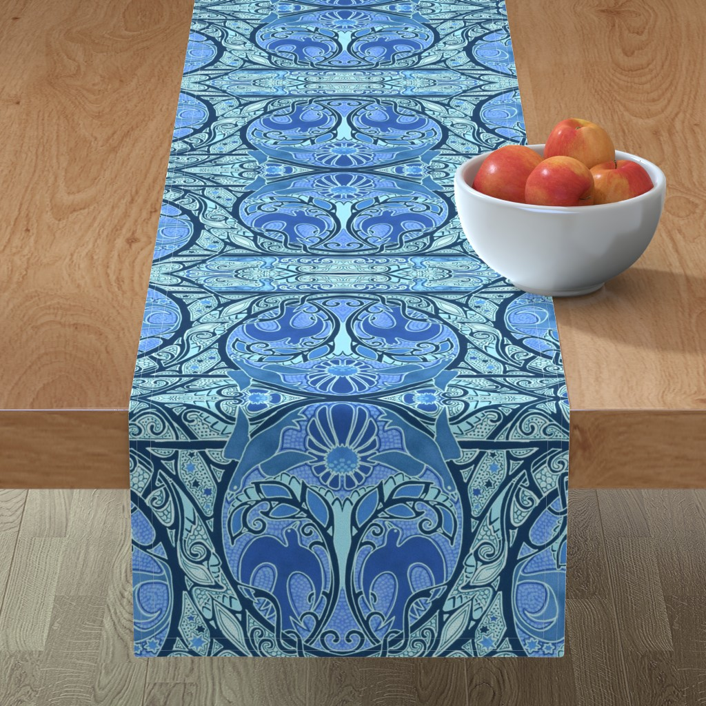 Minorca Table Runner featuring Soaring Free by edsel2084