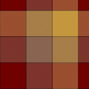 "Paneled tartan check - 7""- darker warm colors"