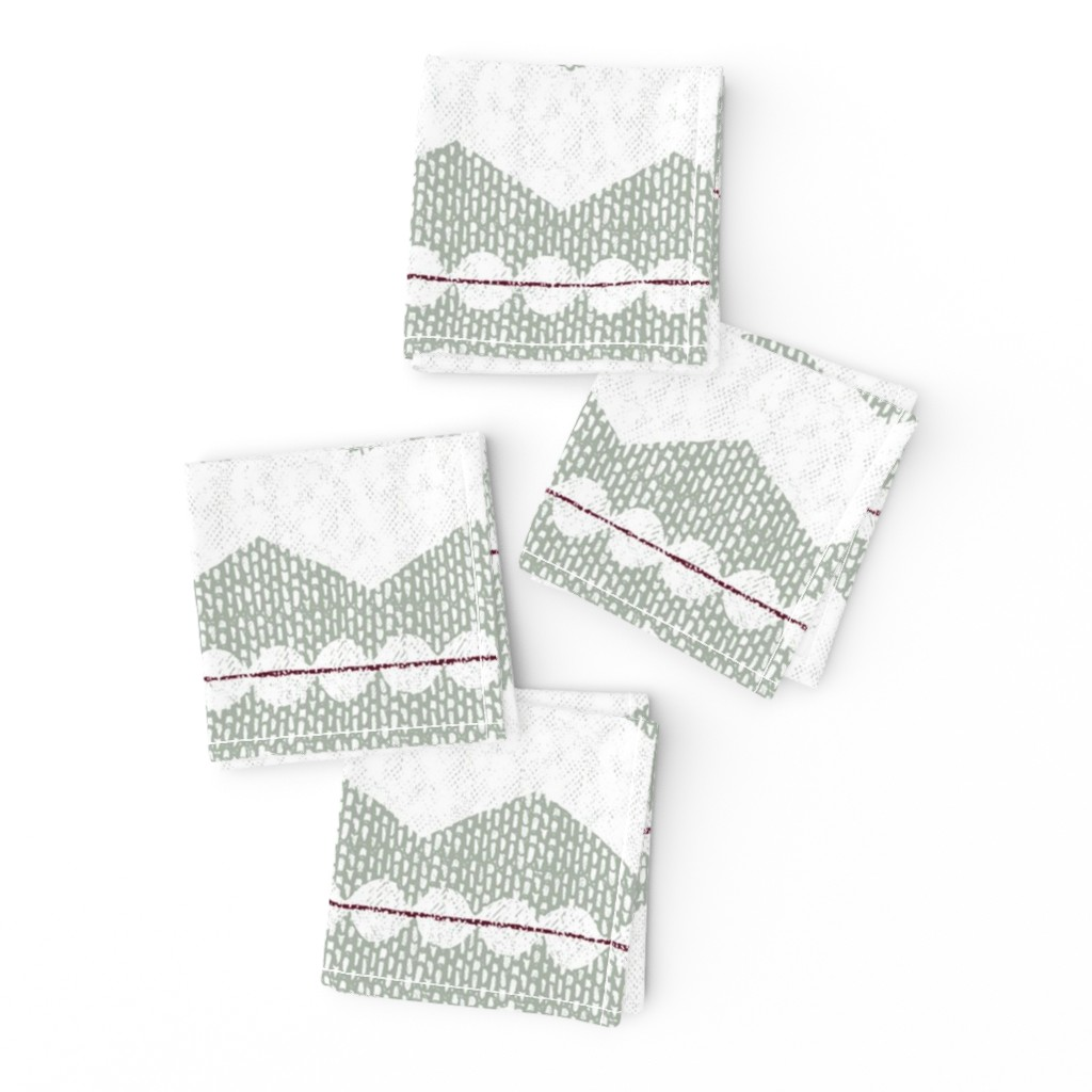 Frizzle Cocktail Napkins featuring holiday chevron by ottomanbrim