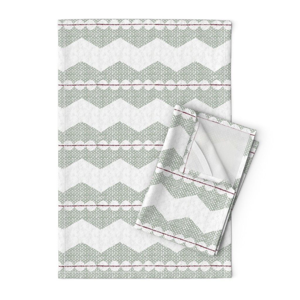 Orpington Tea Towels featuring holiday chevron by ottomanbrim