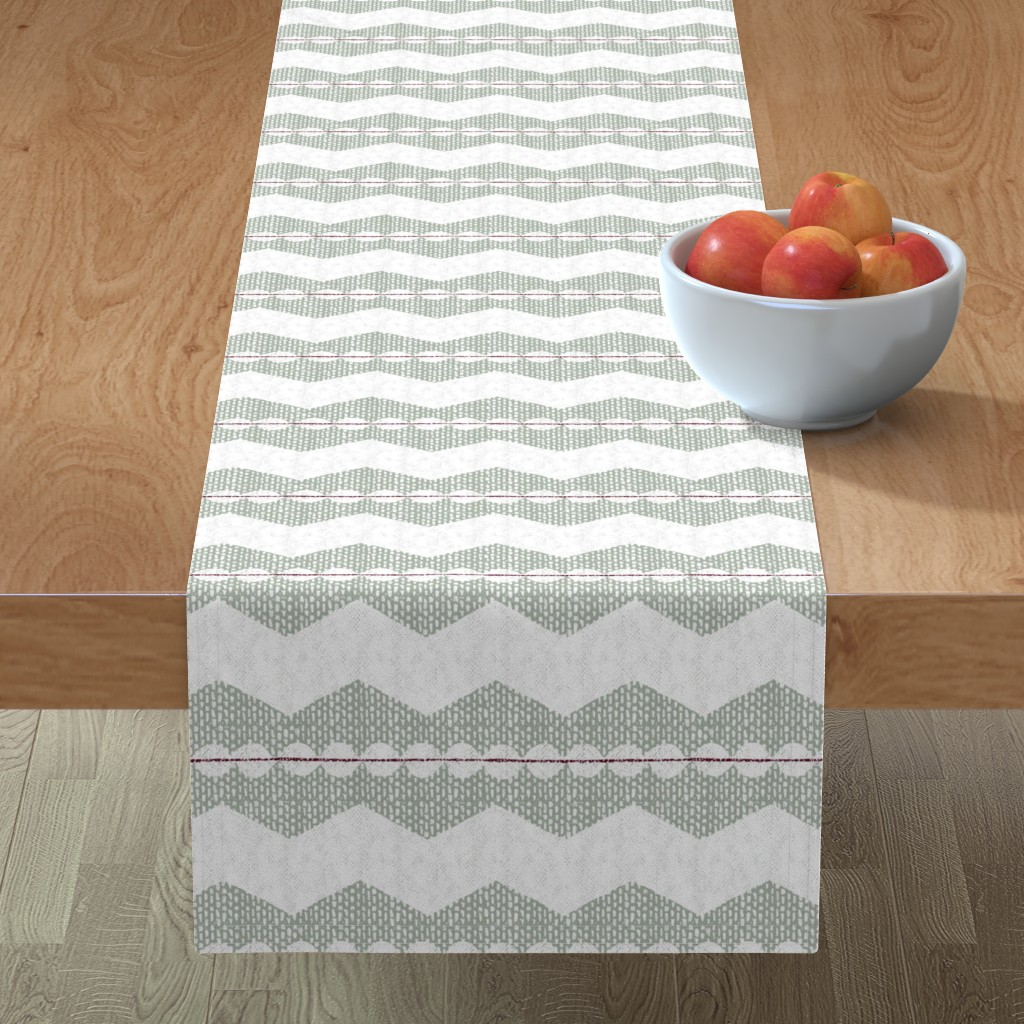 Minorca Table Runner featuring holiday chevron by ottomanbrim