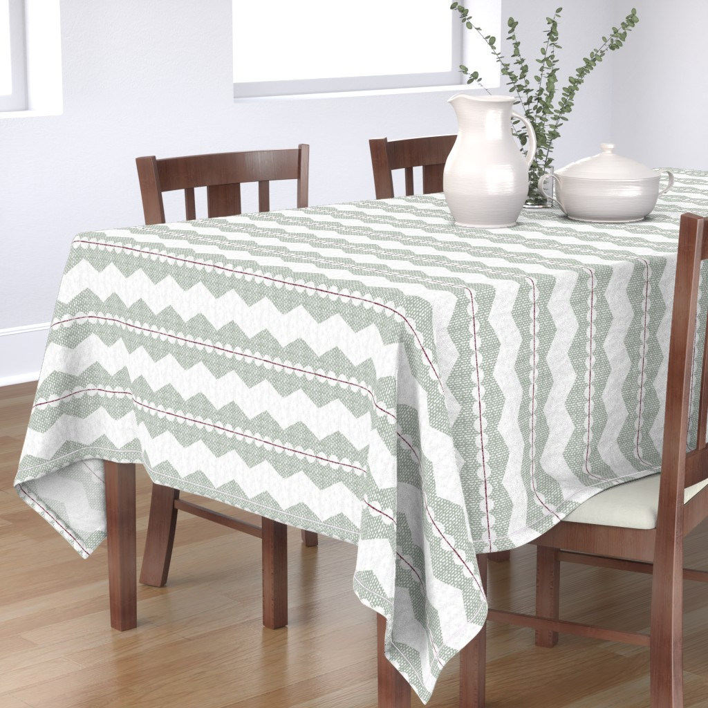 Bantam Rectangular Tablecloth featuring holiday chevron by ottomanbrim