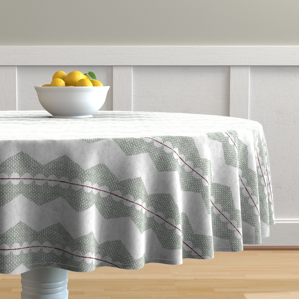 Malay Round Tablecloth featuring holiday chevron by ottomanbrim