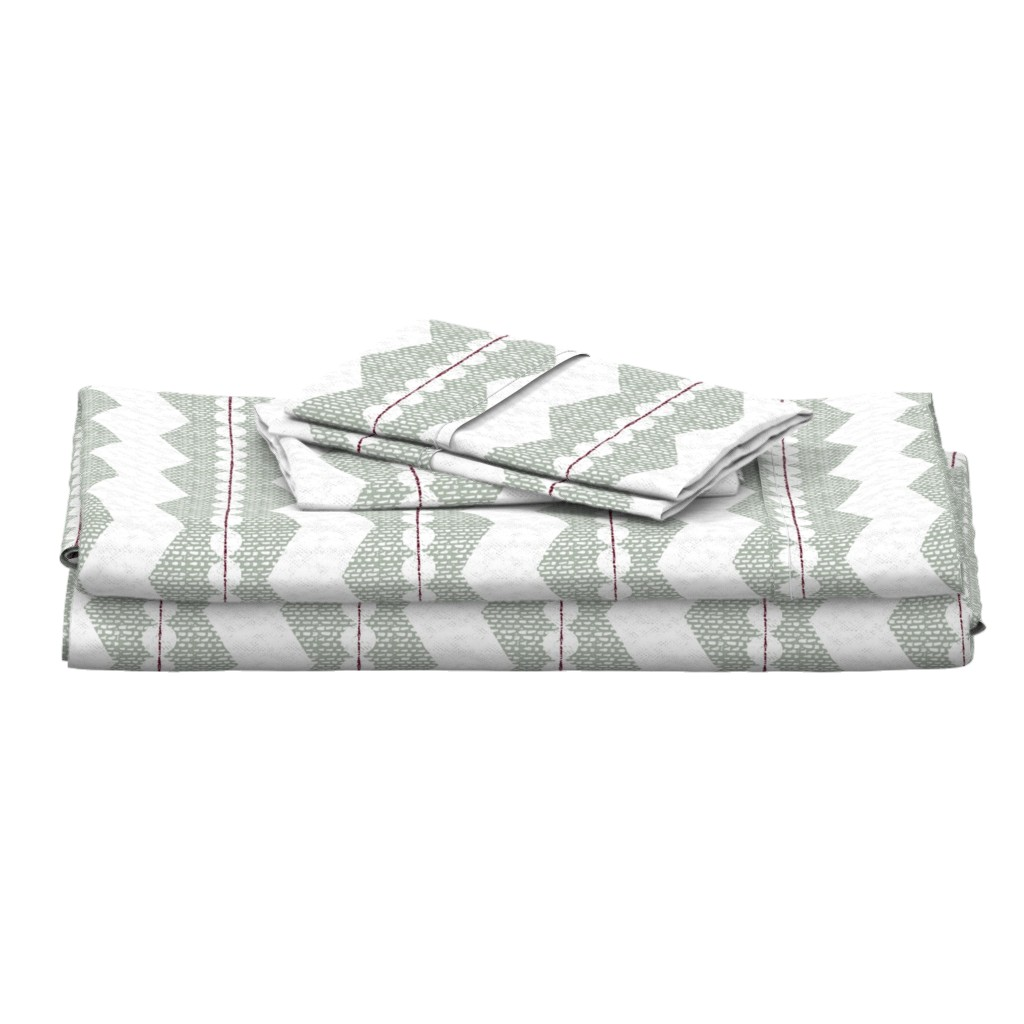 Langshan Full Bed Set featuring holiday chevron by ottomanbrim