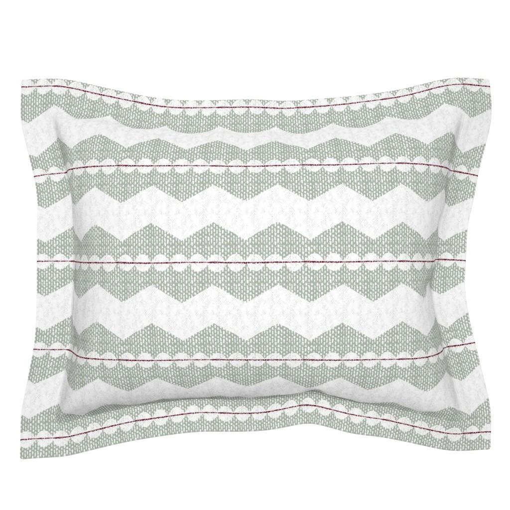 Sebright Pillow Sham featuring holiday chevron by ottomanbrim