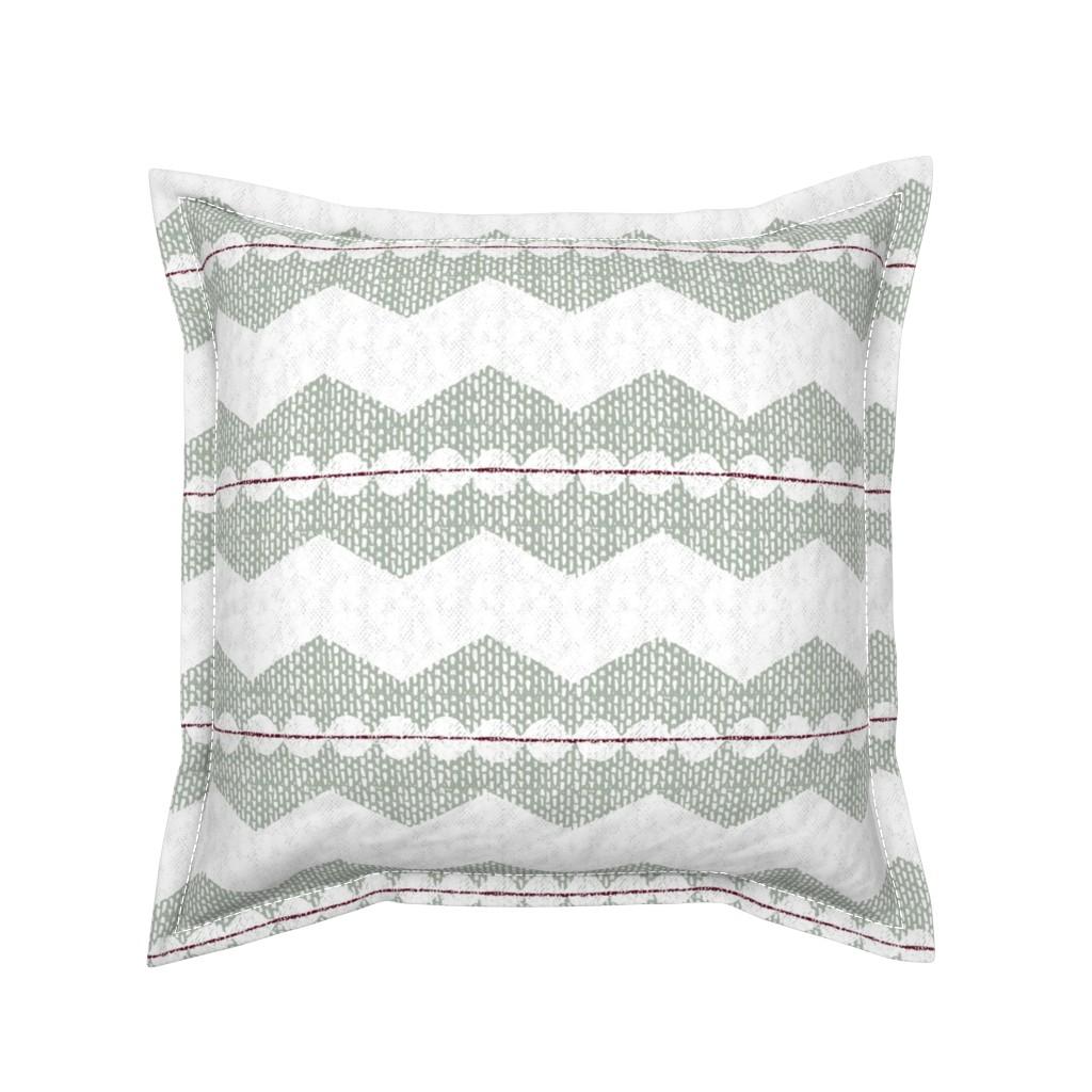 Serama Throw Pillow featuring holiday chevron by ottomanbrim