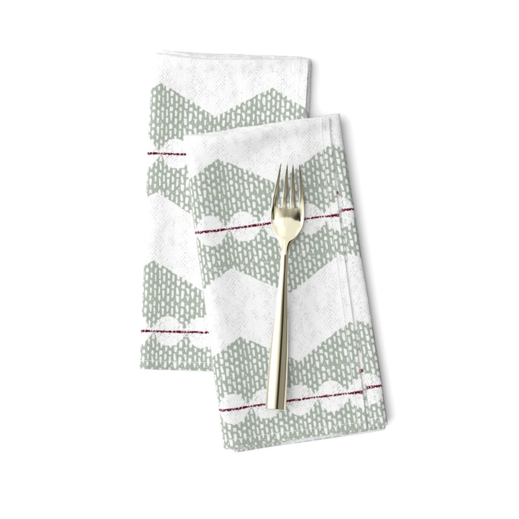 Amarela Dinner Napkins featuring holiday chevron by ottomanbrim