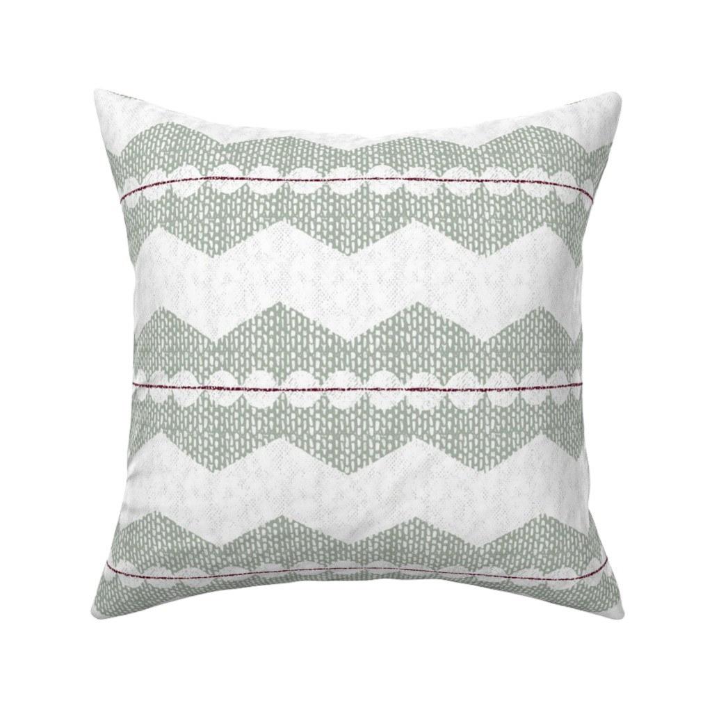 Catalan Throw Pillow featuring holiday chevron by ottomanbrim