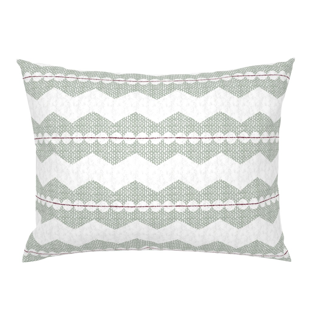Campine Pillow Sham featuring holiday chevron by ottomanbrim