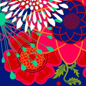 1962 starburst floral