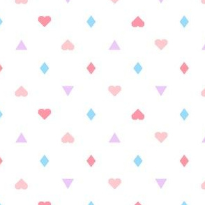 Heart Triangle Diamond Pink Multi