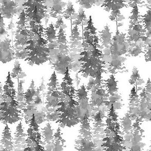 "8"" Woodland Trees - Grey"
