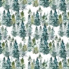 """4"""" Woodland Trees - White"""