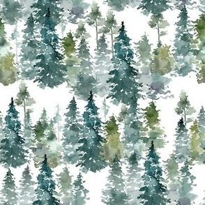 """8"""" Woodland Trees - White"""