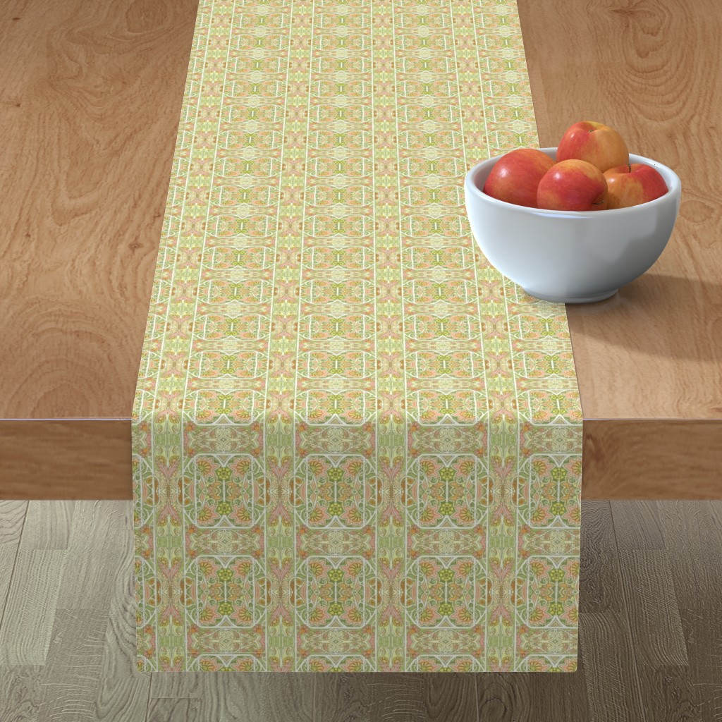 Minorca Table Runner featuring On a Faded Spring Morning by edsel2084