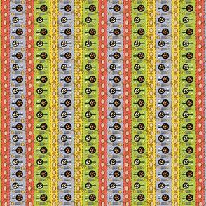 latke pattern in colored stripes