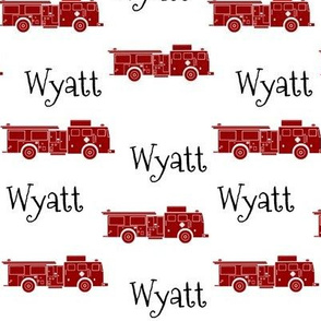 FIRE TRUCKS RED-Wyatt