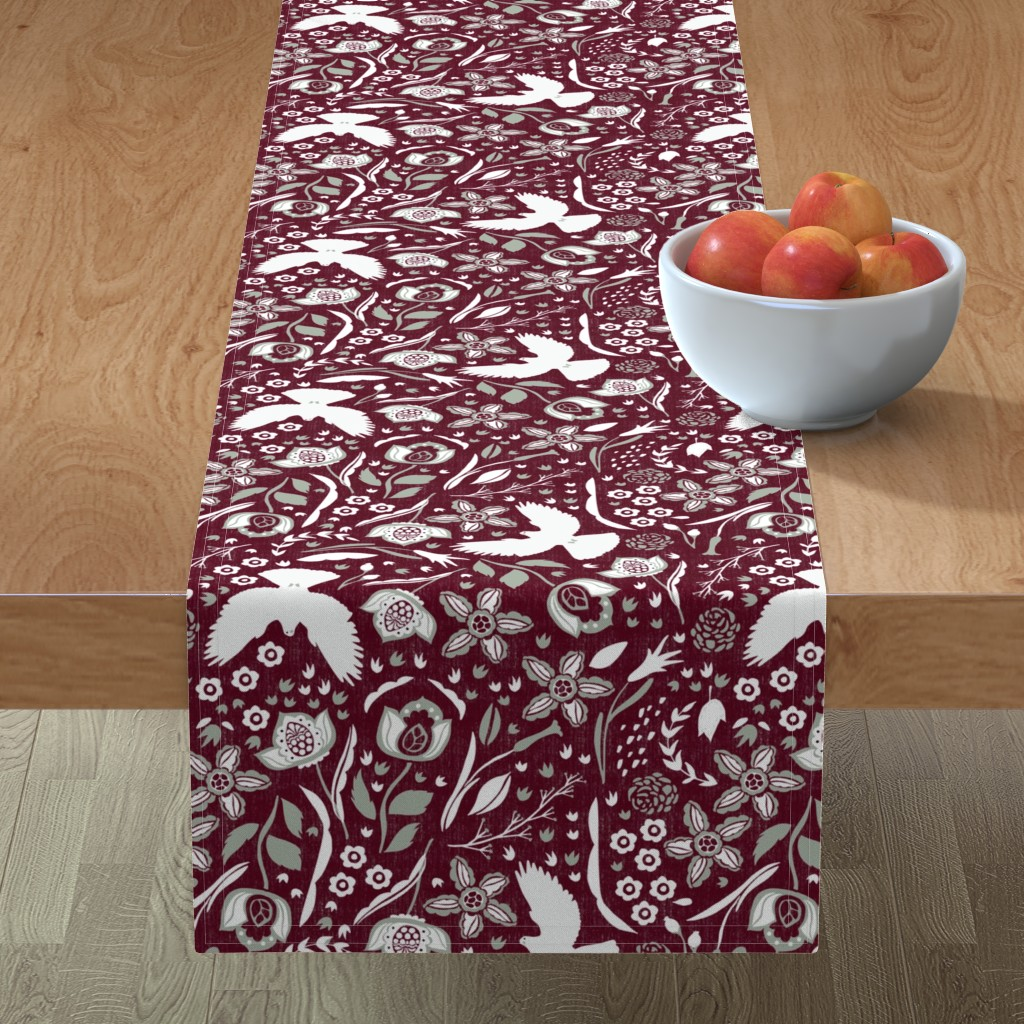 Minorca Table Runner featuring Love. Joy. Peace. by scarlette_soleil