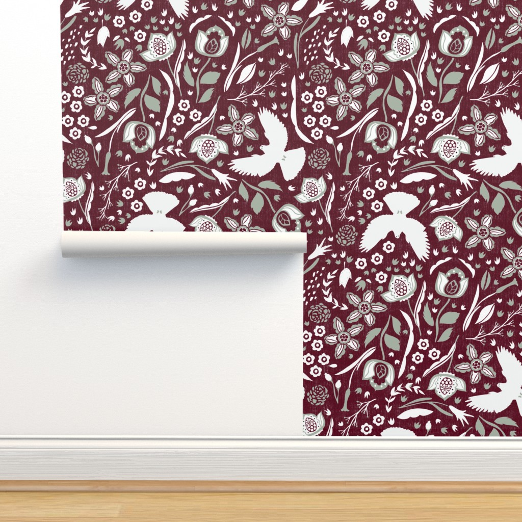 Isobar Durable Wallpaper featuring Love. Joy. Peace. by scarlette_soleil