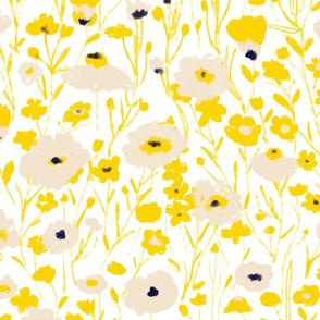 wildflowers - yellow & blue