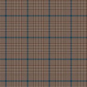"""Prince of Wales check #2, 2"""" brown/blue/taupe"""