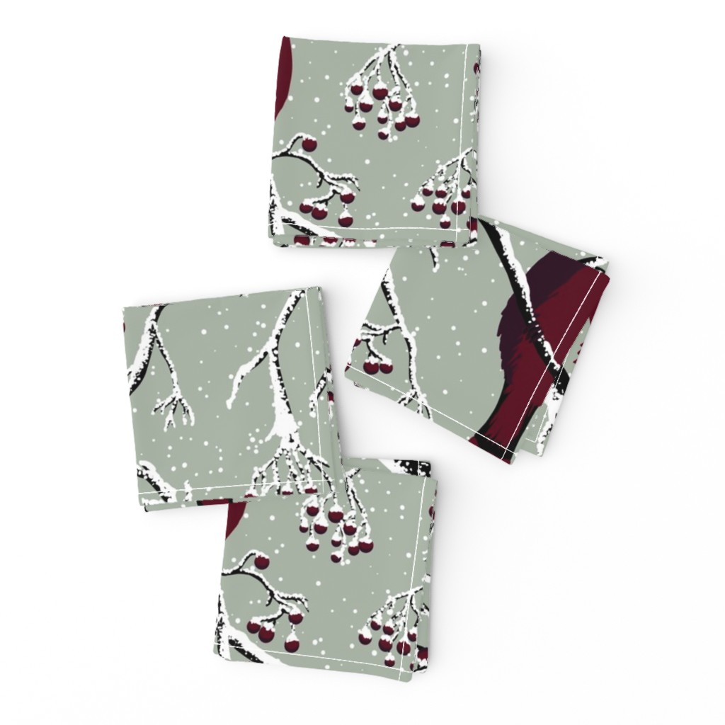 Frizzle Cocktail Napkins featuring Winter birds by sveta_aho