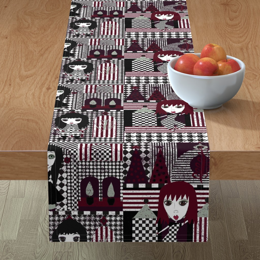 Minorca Table Runner featuring Goth Christmas by orangefancy