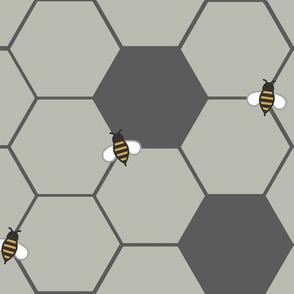 Gray Honeycomb (Large)