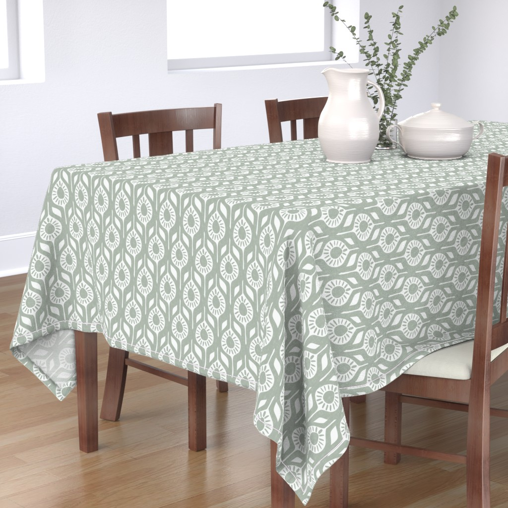 Bantam Rectangular Tablecloth featuring Peace - Elegant Holiday - Modern Floral by scarlette_soleil
