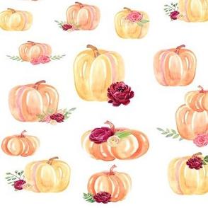 Large Scale Floral Pumpkins