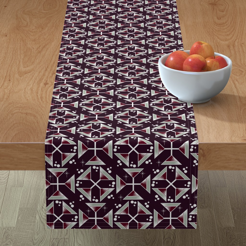 Minorca Table Runner featuring Elegant Martinis by jewelraider