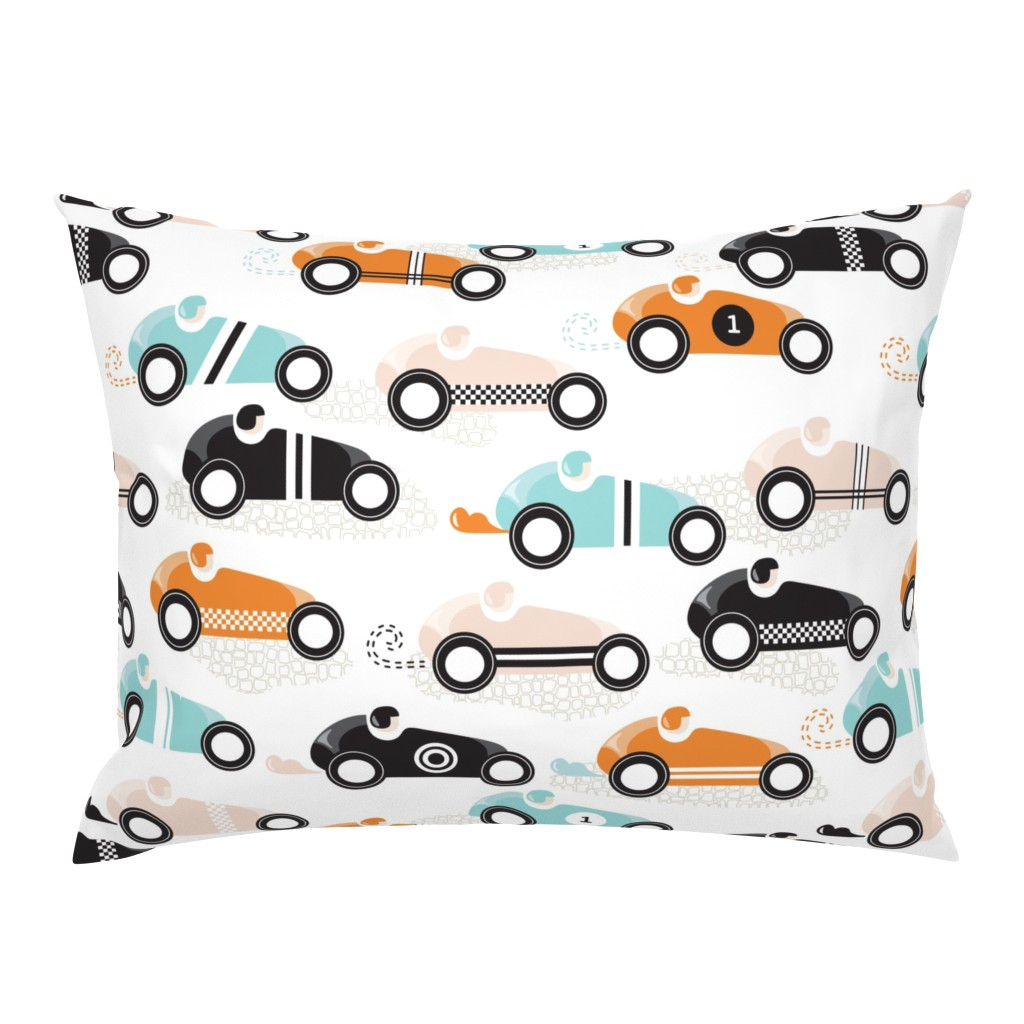 Campine Pillow Sham featuring vroom vroom by booboo_collective
