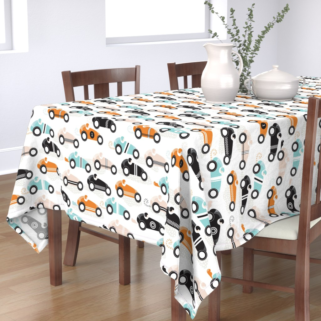 Bantam Rectangular Tablecloth featuring vroom vroom by booboo_collective