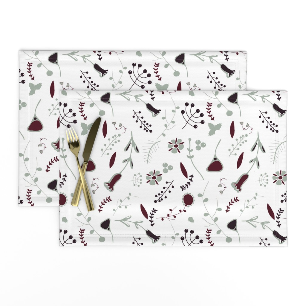 Lamona Cloth Placemats featuring Elegant holiday white  by bruxamagica