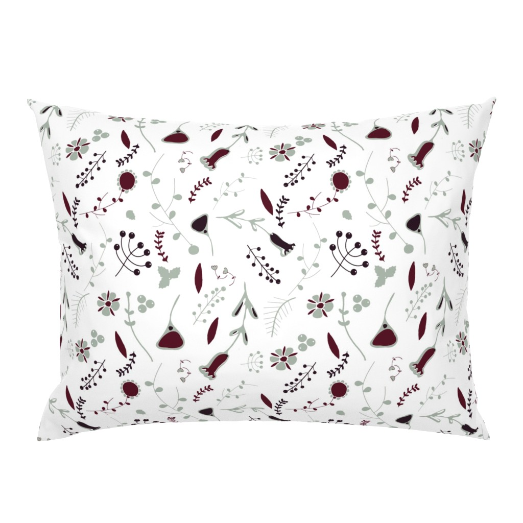 Campine Pillow Sham featuring Elegant holiday white  by bruxamagica