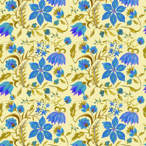 Jaipur Blue Flowers,by Susanne Mason