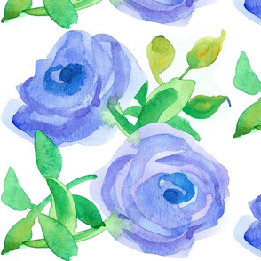 Periwinkle Rose Large Scale