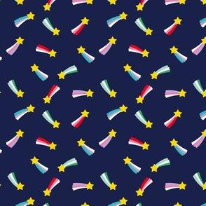 Shooting stars sparkle universe sweet dreams theme navy xs