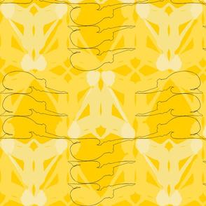 kneeling figure yellow