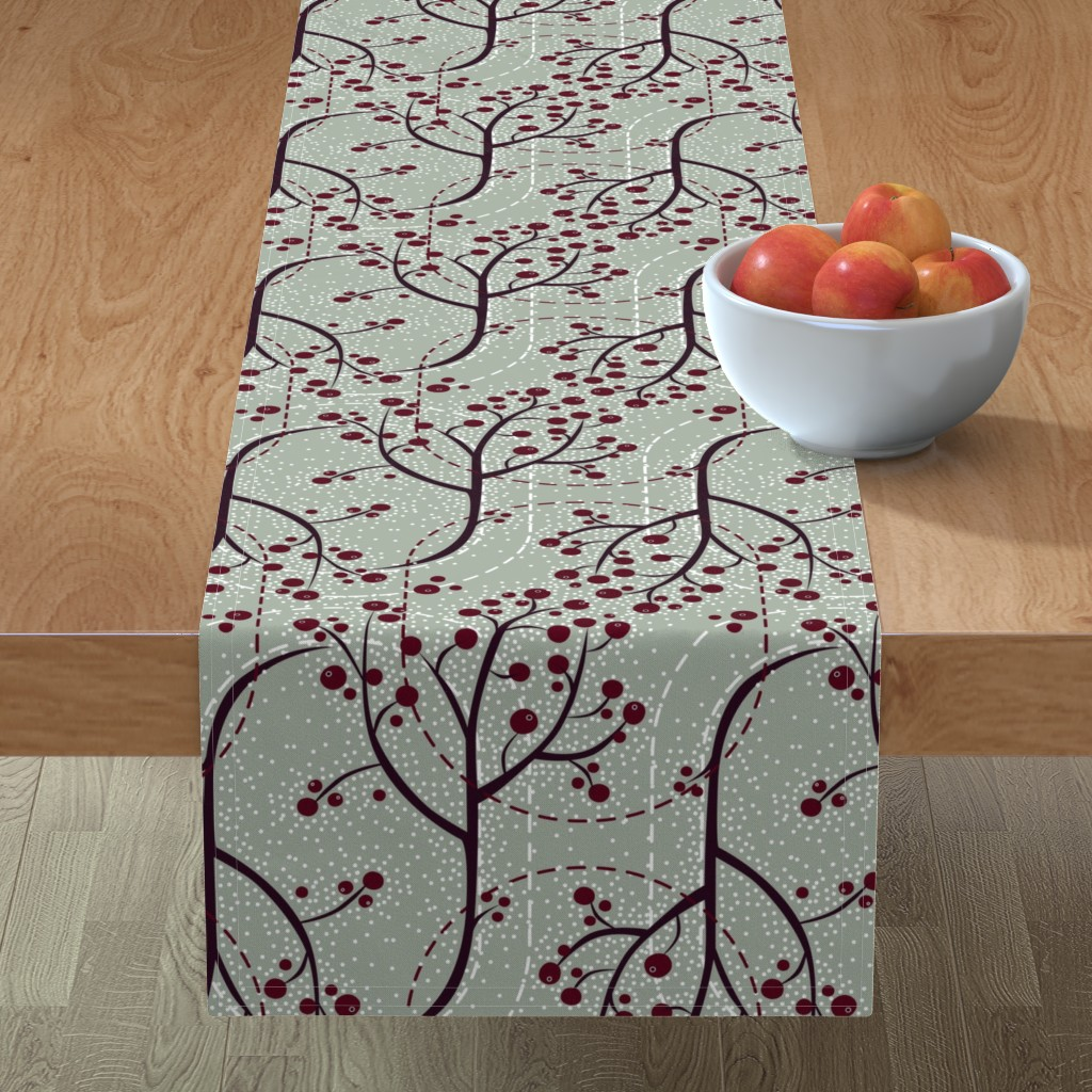 Minorca Table Runner featuring Glistening Berries by robinpickens
