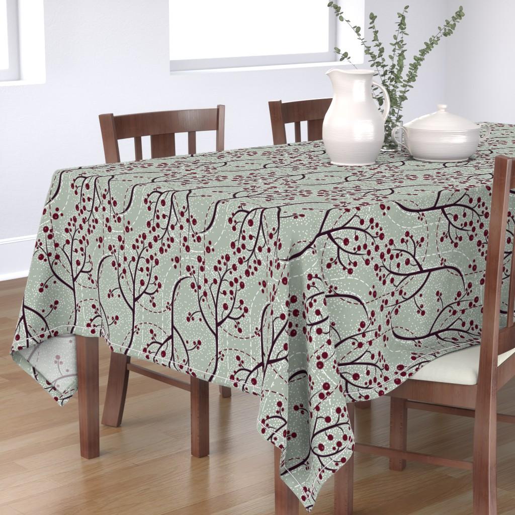 Bantam Rectangular Tablecloth featuring Glistening Berries by robinpickens