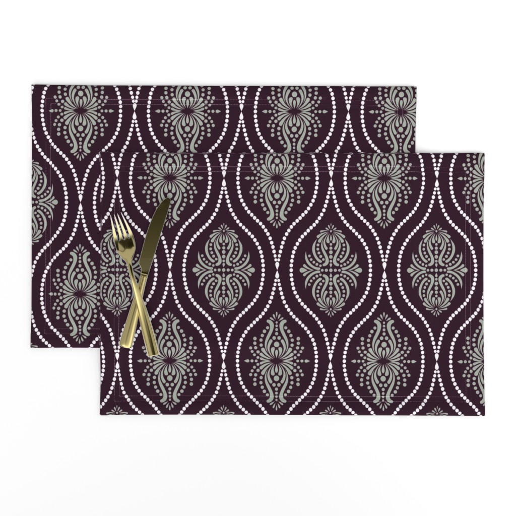 Lamona Cloth Placemats featuring Arabesque Style 2 by artsytoocreations
