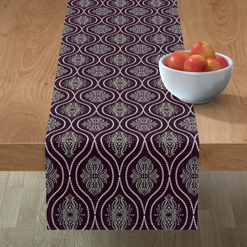 Minorca Table Runner featuring Arabesque Style 2 by artsytoocreations