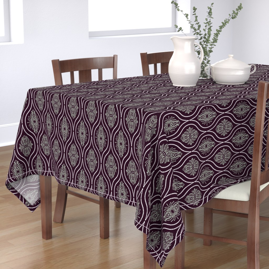 Bantam Rectangular Tablecloth featuring Arabesque Style 2 by artsytoocreations