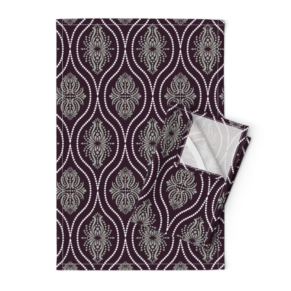 Orpington Tea Towels featuring Arabesque Style 2 by artsytoocreations